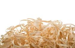 Кольца и спирали деревянных shavings Стоковые Фотографии RF