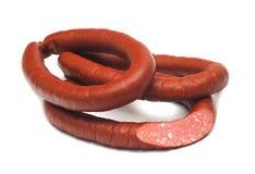 3 кольца, который курят сосисок с разделом Стоковое Изображение