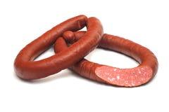 2 кольца, который курят сосисок с разделом Стоковые Фотографии RF
