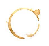 Кольца кофейной чашки изолированные на белизне Стоковое Изображение