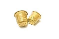 2 кольца металла золотых Стоковое Изображение