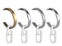 Кольца металла с зажимами для карнизов занавеса Стоковое Изображение