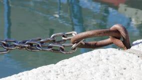 Кольца металла для причаливать на порте Стоковые Фото