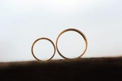 Кольца на деревянной поверхности Стоковое Фото