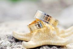 2 кольца на морской звезде Стоковые Фото