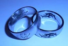 2 кольца нержавеющей стали Стоковая Фотография
