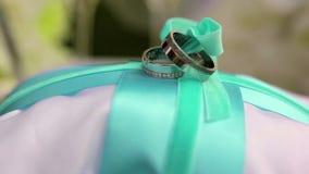 кольца предпосылки яркие wedding белизна сток-видео