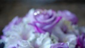 кольца предпосылки яркие wedding белизна акции видеоматериалы