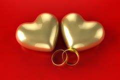 Кольца сердца золота бесплатная иллюстрация