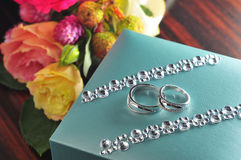 Кольца с бриллиантом Стоковое Фото