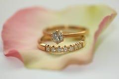 2 кольца с бриллиантом Стоковые Фото