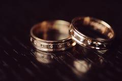 Кольца с диамантами Стоковое Фото