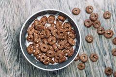 Кольца шоколада с молоком Стоковое Изображение RF