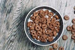 Кольца шоколада с молоком Стоковое фото RF