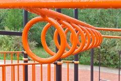 Кольца для спортивной площадки Стоковое Изображение
