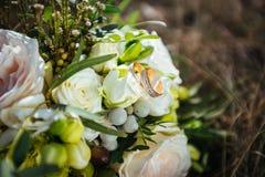 Кольца для wedding букета Стоковая Фотография