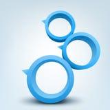 кольца 3d Стоковое Изображение RF