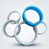 кольца 3d Стоковая Фотография RF