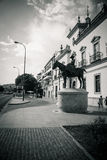 Кольцо бой быка на Севилье, Испании, Европе Стоковые Изображения RF