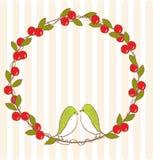 Кольцо вишни с птицей стоковые фото