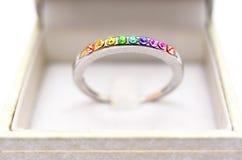Кольцо в коробке Стоковое Фото