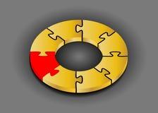 кольцо головоломки рационализаторства принципиальной схемы предпосылки 3d серое Социальная принципиальная схема средств Стоковые Фотографии RF