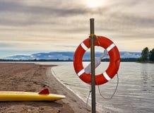 Кольцо жизни в пляже Стоковое Фото