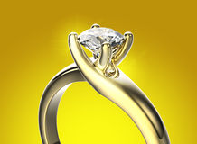кольцо диаманта золотистое серебр ювелирных изделий золота ткани предпосылки черный Стоковое фото RF