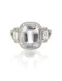 Кольцо драгоценной камня диаманта отрезка валика Стоковая Фотография