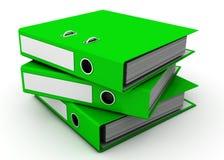 кольцо связывателей зеленое Стоковая Фотография