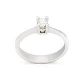 Кольцо с бриллиантом захвата на белой предпосылке Стоковая Фотография