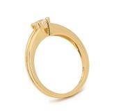 Кольцо с бриллиантом захвата на белой предпосылке Стоковое Изображение