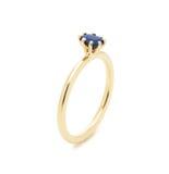 Кольцо с бриллиантом свадьбы Стоковая Фотография