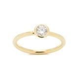 Кольцо с бриллиантом свадьбы Стоковая Фотография RF