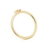 Кольцо с бриллиантом свадьбы Стоковое Фото