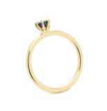 Кольцо с бриллиантом свадьбы Стоковое фото RF