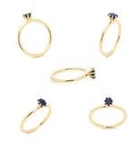 Кольцо с бриллиантом свадьбы Стоковые Фото