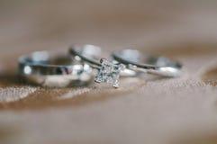 Кольцо с бриллиантом Стоковые Фотографии RF