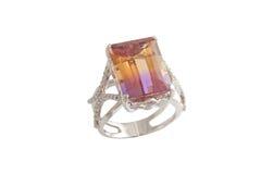 Кольцо с бриллиантом Стоковое Изображение
