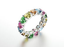 Кольцо с диамантом Предпосылка ювелирных изделий моды Стоковое Изображение