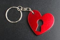 Кольцо для ключей влюбленности присутствующее стоковое изображение