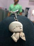 Кольцо для ключей влюбленности Стоковые Изображения RF