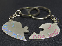 Кольцо для ключей сердца Стоковые Изображения RF
