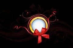 Кольцо Gloden и красная лента Стоковое фото RF
