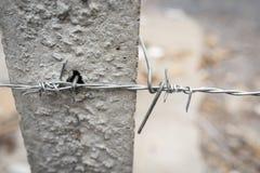 колючий провод загородки Стоковое Фото