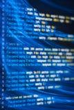 Код HTML и CSS и красочные световые эффекты Стоковая Фотография RF