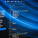 Код HTML и CSS Стоковая Фотография RF