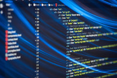 Код HTML и CSS Стоковое Изображение RF