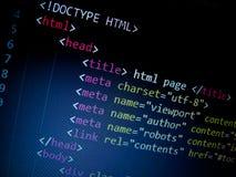 Код HTML Стоковая Фотография RF
