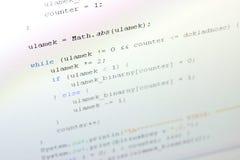 Код Java Стоковые Изображения
